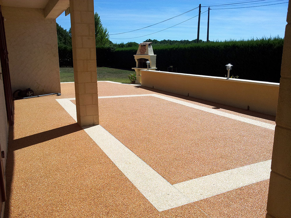 Terrasse bicolor sol mineral | Resiway