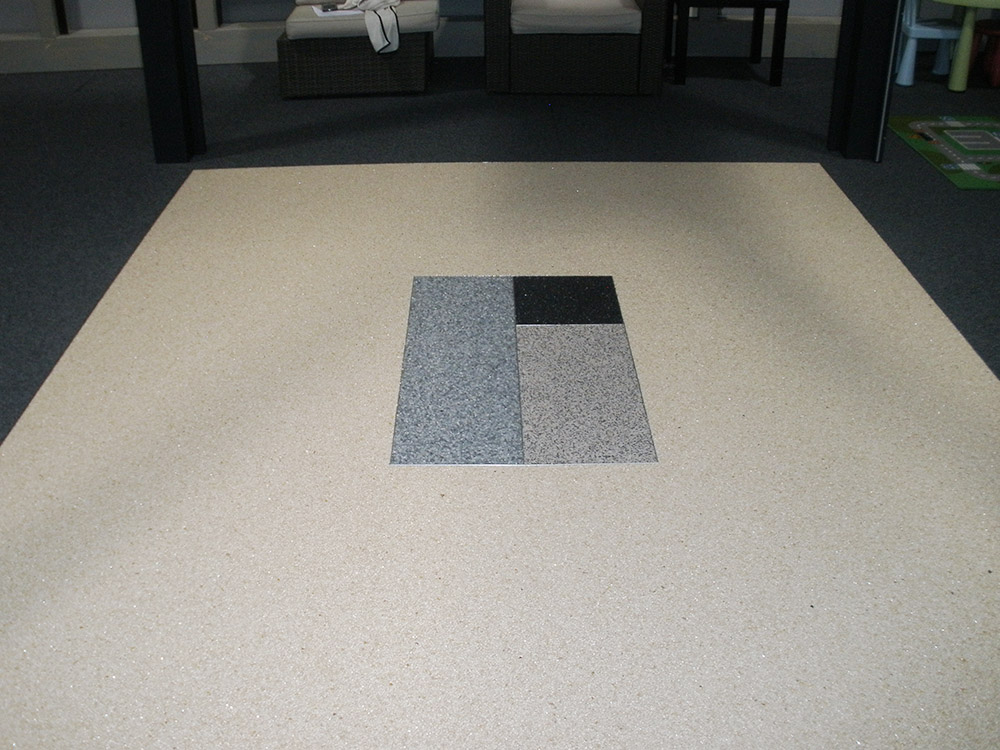 05 - Tapis de pierre en showroom | Resiway