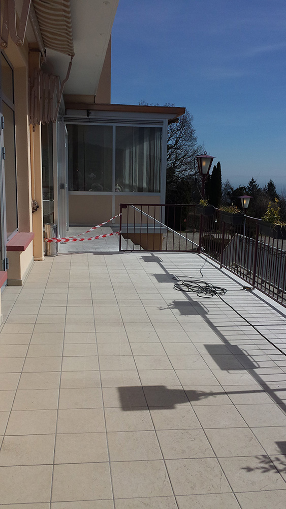 02 - Hotel Alexain - Moquette de pierre terrasse