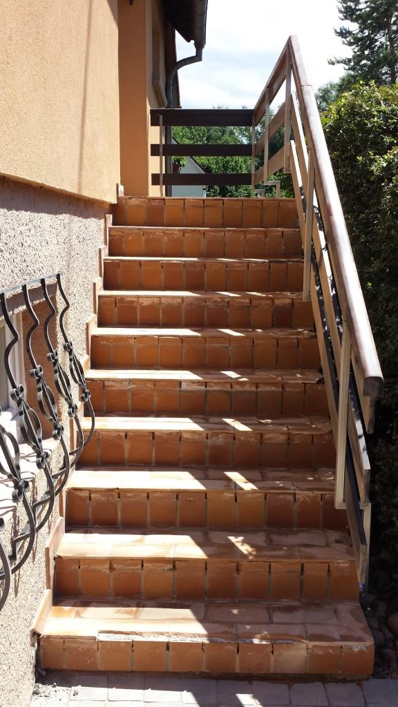 Moquette de pierre - Escalier avant après 01
