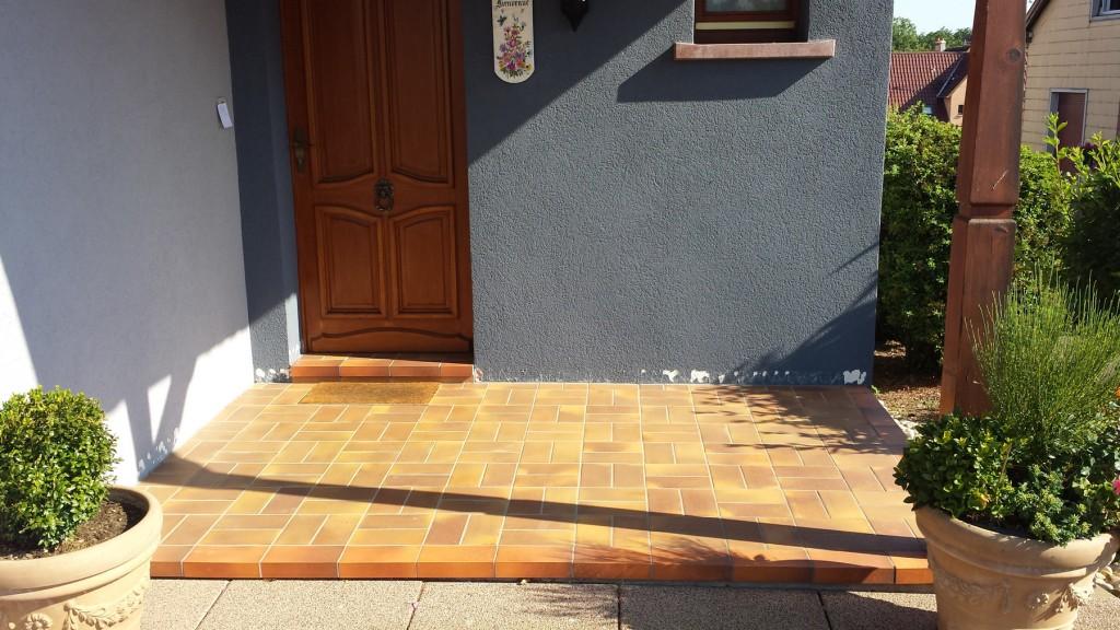 moquette de pierre patio - Avant après