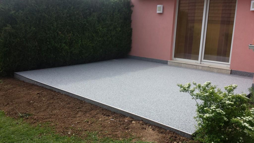 moquette de pierre terrasse - avant après