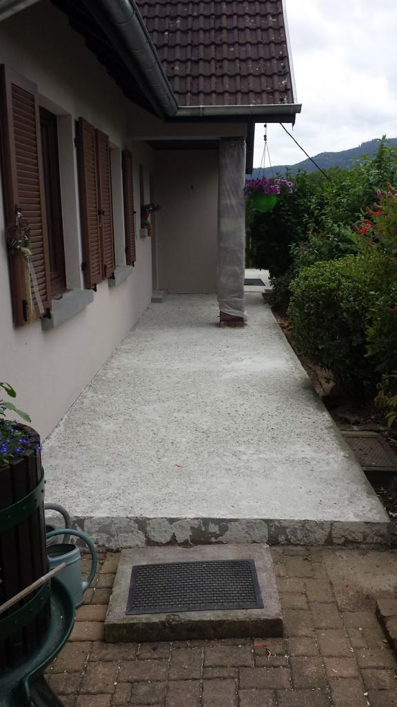 Moquette de pierre - Transformation terrasse - Avant après