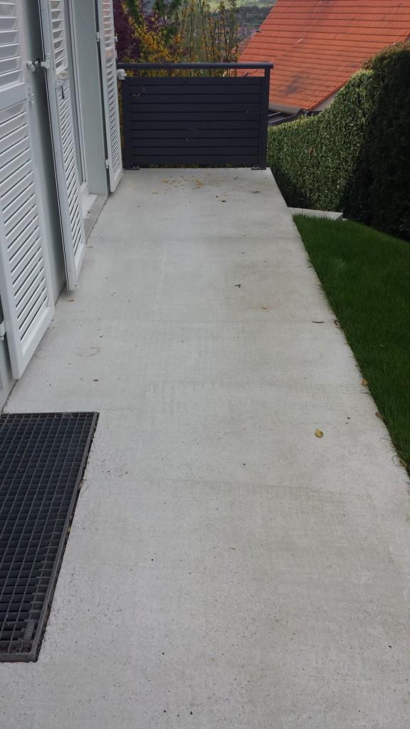 transformation terrasse - moquette de pierre - Avant après - 01